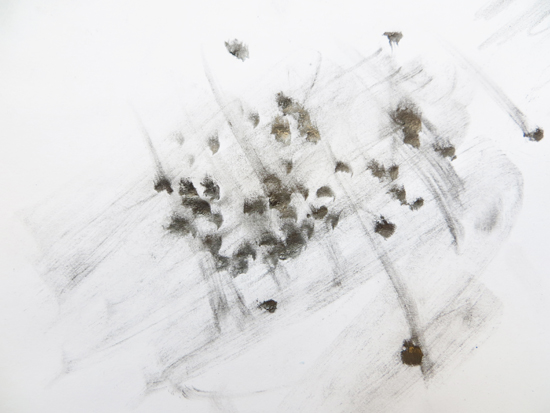 Exploring graphite - dense dots and eraser