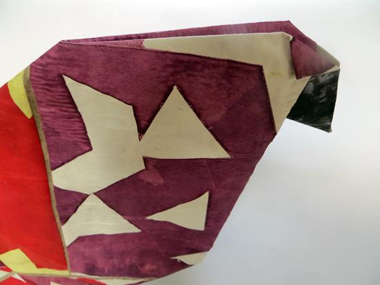 Origami chicken: detail by Melanie Johns