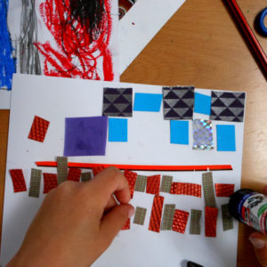 Making collage patterns inspired from around the world