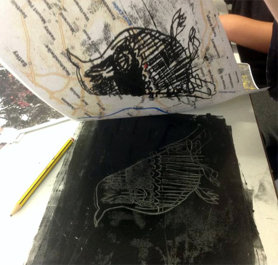 Printing inspired by Hester Cox