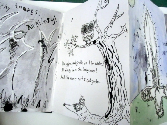 Artist Eleanor Somerset, shares how she worked with children and young people on a series of workshops to illustrate Lewis Caroll's 'The Jabberwocky'.