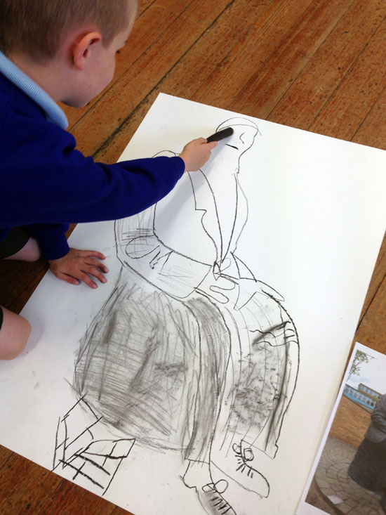 I am an Arts Award Advisor for Discover and Explore levels. I have links with the University of Hertfordshire. For a recent Arts Award, I took a group of children to the see the sculptures on the University campus. Follow-up observational drawings were impressive.