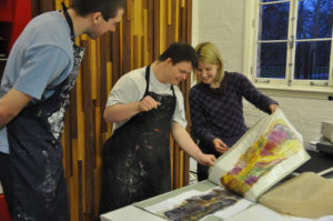 As an artist educator I work with all age groups from primary school children to elderly people. I am passionate about creative learning and using my skills as an artist to facilitate experimentation and development particularly with vulnerable groups.