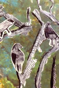 biro birds - detail battyeford primary