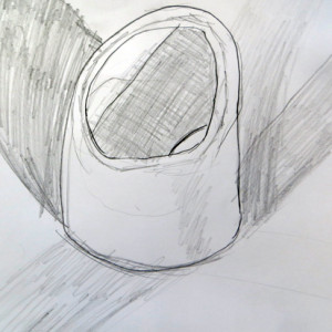 Continuous line drawing of a Hoola Hoop