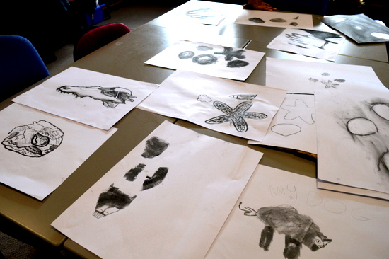 Observational drawings by students at Red2Green