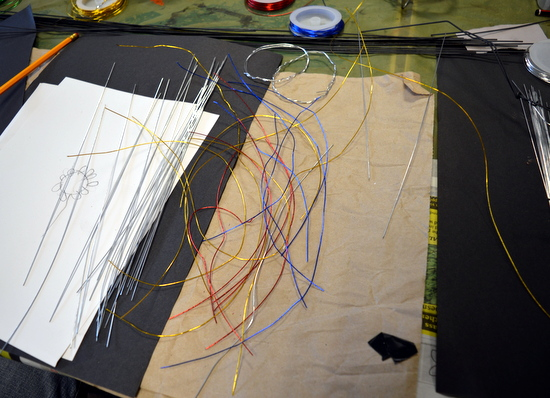 One student was inspired by the process of simply cutting wire