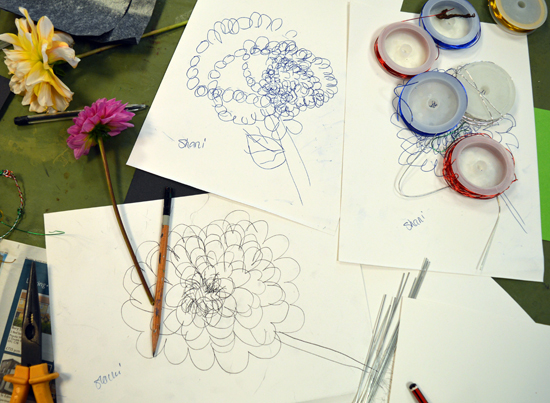 Wire and drawings