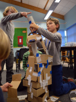 40 Minute Cardboard and Double-Sided Sticky Tape Engineering Challenge