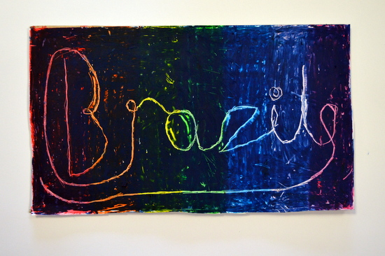 'Brazil' - Scraffito by student at Red2Green