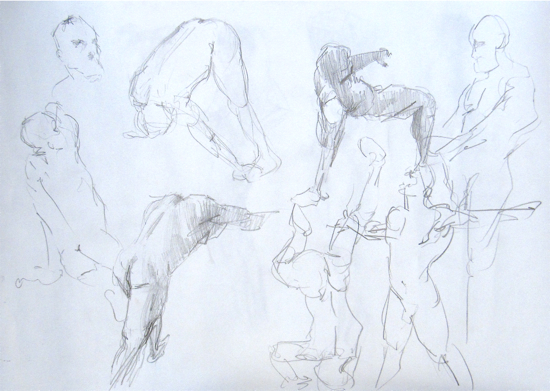 Gesture drawings by Hester Berry