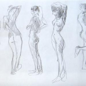 Drawing a life model