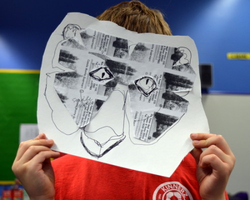 Pupils use AccessArt's carnival mask template to create animal mask designs
