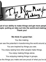 The New Manifesto for Making!