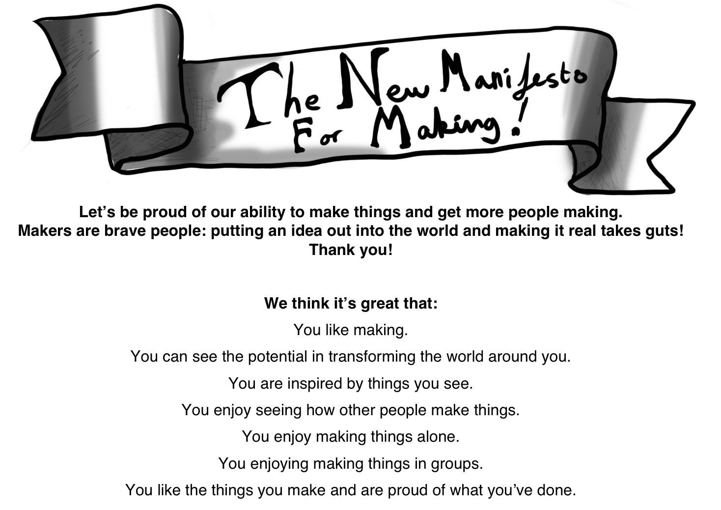 Manifesto for Making