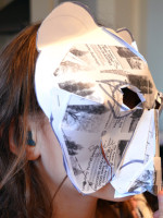 Pupil from Milton Road Primary School makes her animal mask 3D