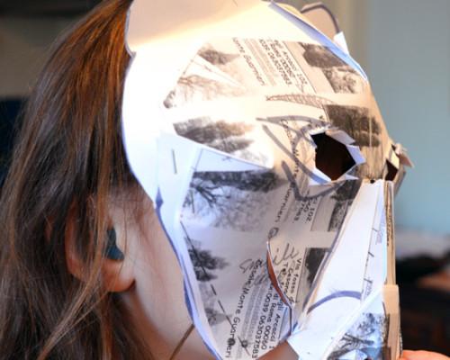 Pupils make their animal mask designs 3D