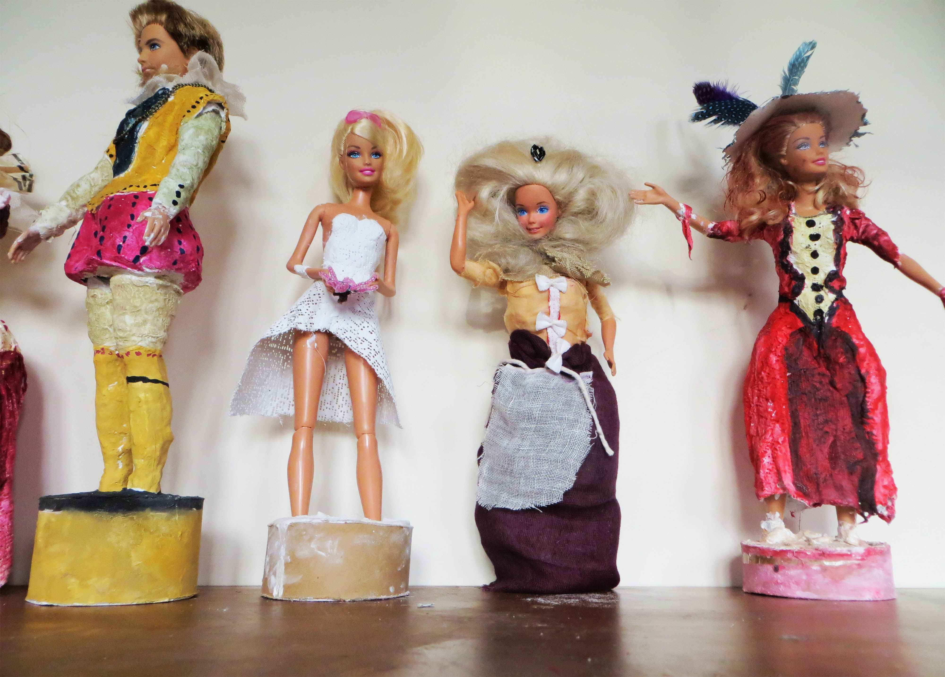 Transformed Barbies (and a Ken)