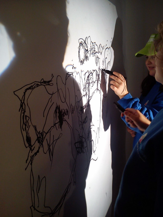 Using strong light projected images Sara Dudman