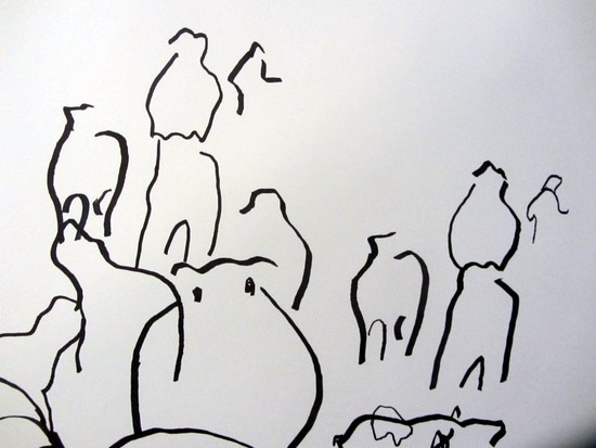 Collaborative drawing detail 1
