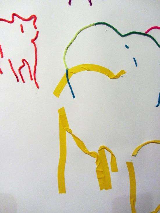 Tape and Wicky Sticks drawing detail 1 Sara Dudman