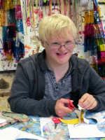 Learner in the Art room at Frimhurst, Surrey