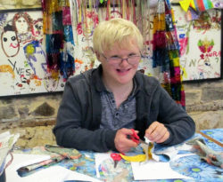Artist Kaz Trinder shares a glimpse of her work with adults with learning difficulties at Frimhurst Enterprises, Surry
