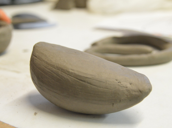 Smoothed clay form by Emma