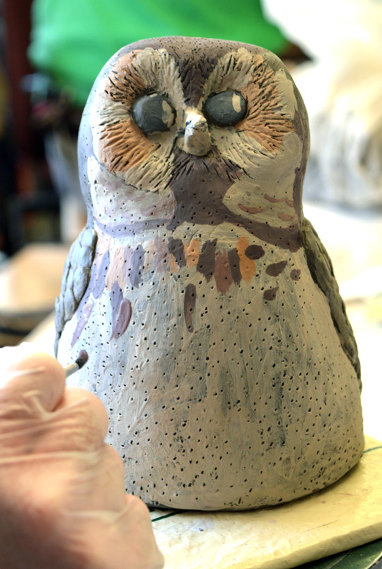 Painted owl - by Peter