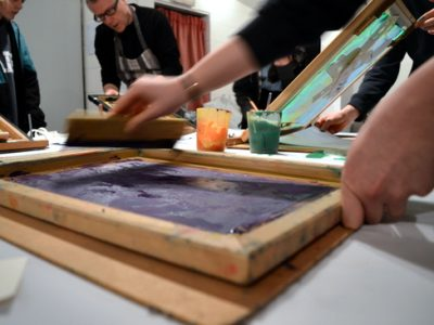A  print making session that focuses on learning through doing, giving teenagers the space and permission needed to run free with their ideas within a framework and with clear instructions.