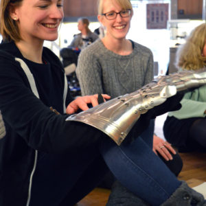 Teachers explore armour with Kate Noble