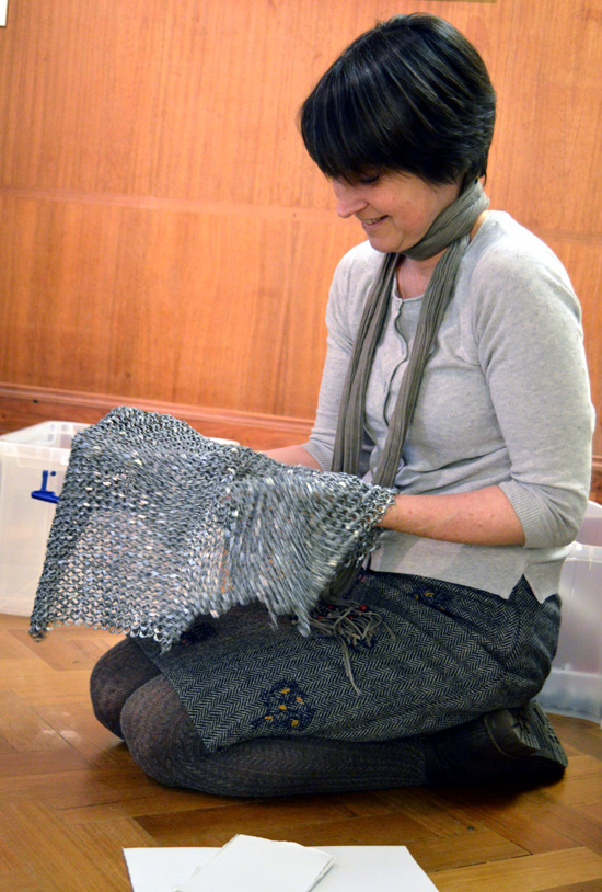 Paula Briggs from AccessArt feels chainmail