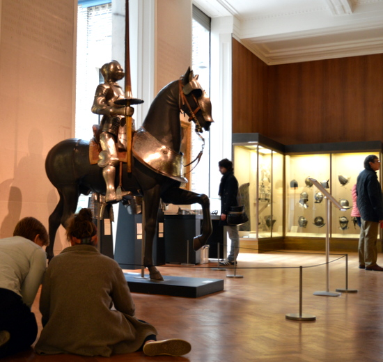 Teachers in Gallery 31 - Armoury in the Fitzwilliam Museum, Cambridge