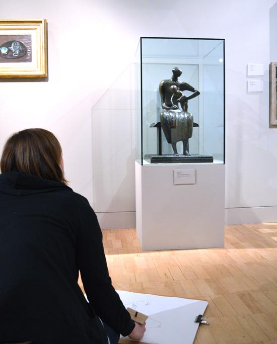 Drawing Henry Moore in Gallery 11