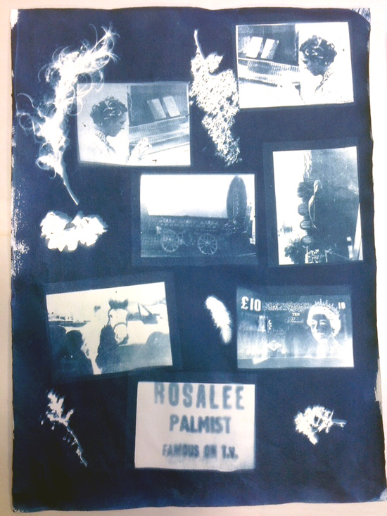 For a recent Silver Arts Award I worked with a student from the Traveller community on documenting her experiences of Appleby Fair using Cyanotypes. Following success in this project I have developed a community workshop and am producing my own artwork for a prospective exhibition that I hope to include school Cyanotype workshops.