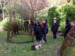I create Living willow structures for playgrounds and community gardens; I can create the structures, or teach and inspire others to create them themselves. I also run 3d workshops alongside this for pupils and students of all ages.