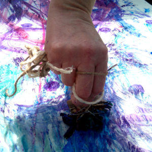 Creating mark making tools and painting water