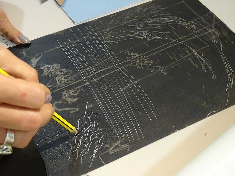 Making Marks Directly into the Inked Plate