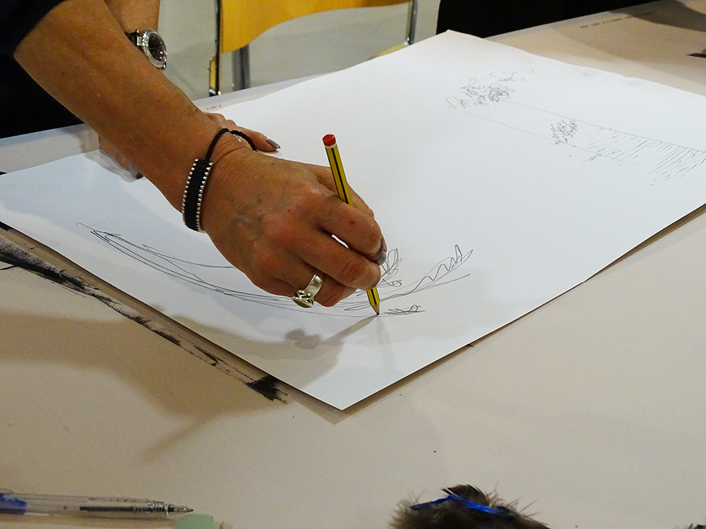 A Sheet of Paper Placed over the Inked Plate - Using Pencil Pressure to Make Marks