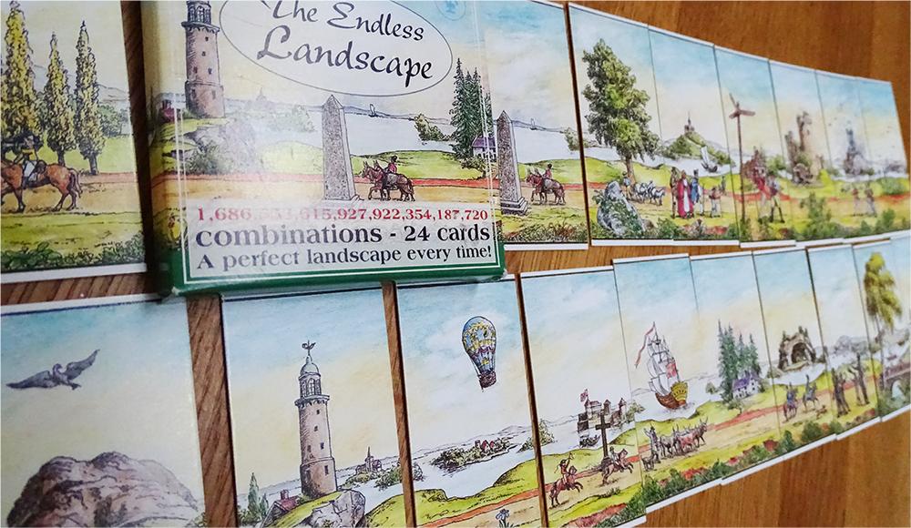 Never-ending landscape cards