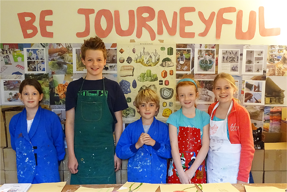 Be Journeyful! Many thanks to the children who attended the AccessArt Mini Art School