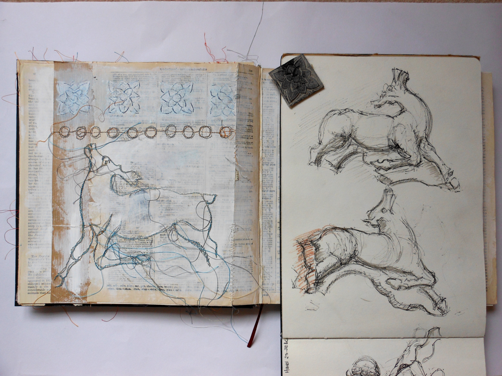 August Creative Challenge: Andrea Butler's sketchbook page