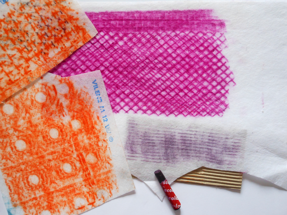 Draw your home: collage, stitch and fabric crayons