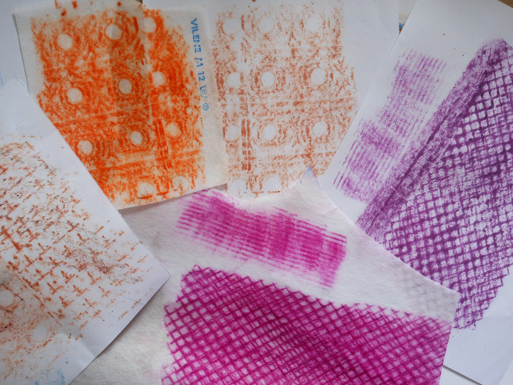 Draw your home: collage, stitch and fabric crayons: