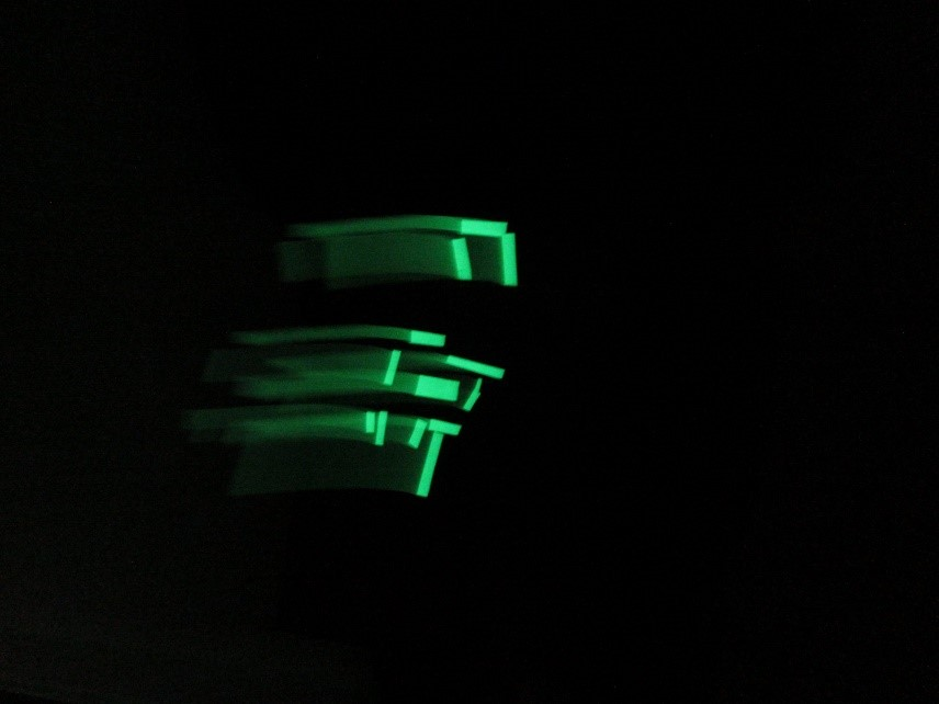 Glow in the dark tape drawing -Sara Dudman
