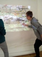 Large scale collaborative drawing activity embeds arm movments in preparation for recreating marks in the dark Sara Dudman