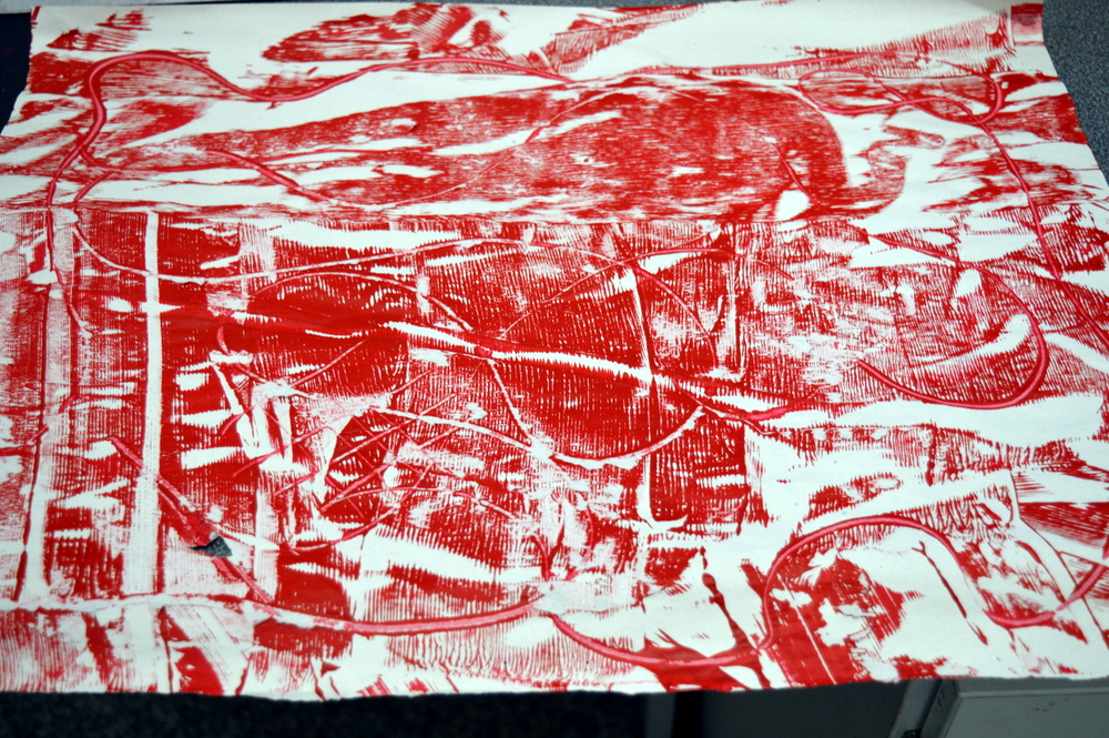 Arts and Minds - Cambourne - week six - monoprinting - SC
