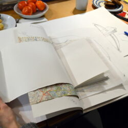 Teachers use drawings made during a CPD session to make sketchbooks