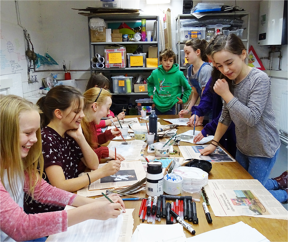 """AccessArt Art Lab for ages 11, 12 and 13, explore """"What is a Canvas?"""""""