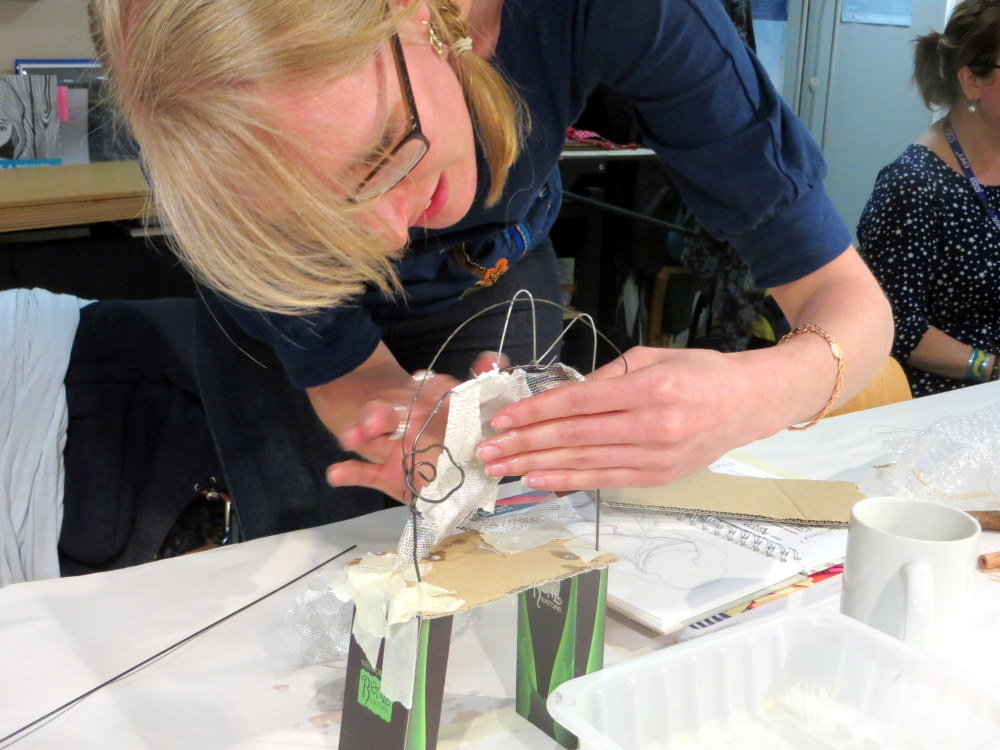This post shares how Paula Briggs and Sheila Ceccarelli from AccessArt and Kate Noble from the Fitzwilliam Museum, Cambridge, enabled teachers to explore making three dimensional interpretations of two dimensional 18th Century portraits.